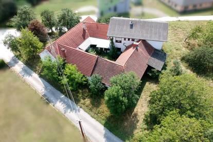 Generalsanierungsbedürftiger Vierkanthof (250m²) mit wunderbarem Ausblick in Deutsch Kaltenbrunn!