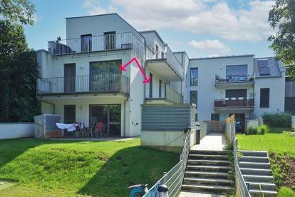Hochwertige 3-Zimmer-Miete mit 2 Balkonen mit Garagenplatz in Grünruhelage