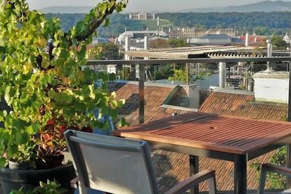 Glorietteblick! Loft mit Dachterrasse und Einliegerwohnung in Gründerzeithaus