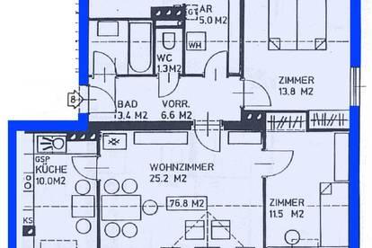 Zellerndorf. Geförderte 3 Zimmer Mietwohnung.