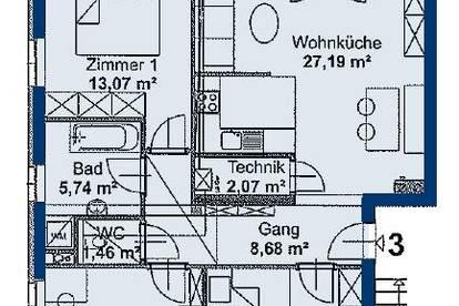 Schönbühel. Geförderte 4 Zimmer Wohnung | Balkon | befristete Miete.