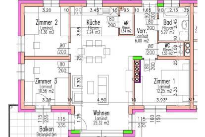 Fels/Wagram. Geförderte 4 Zimmer Wohnung   Balkon   Miete mit Kaufrecht.