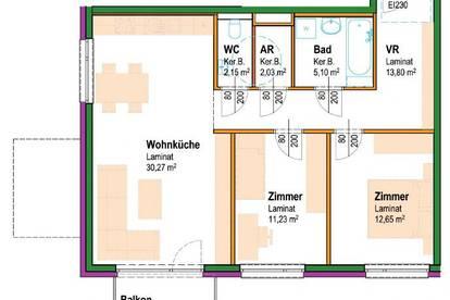 Lanzenkirchen. Erstbezug ab Sommer 2020 | Geförderte Mietwohnung | Balkon.