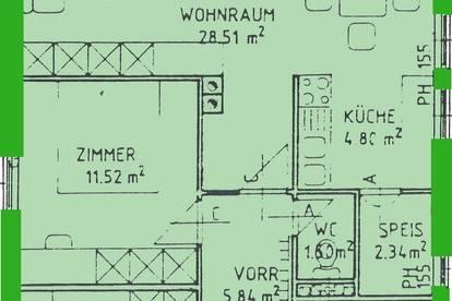 Alberndorf. geförderte 3 Zimmer Miewtwohnung | Balkon | Sonderwohnbau.