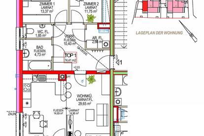 Wang. Geförderte 3 Zimmer Wohnung | Garten | Miete mit Kaufrecht.