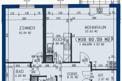 St. Pölten/Traisenpark. Geförderte 2 Zimmer Wohnung   Balkon   Miete mit Kaufrecht.