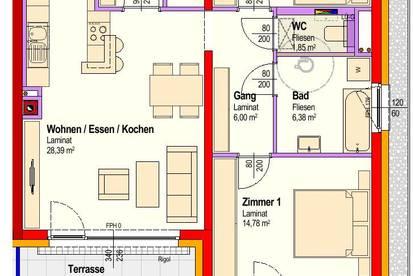 Michelhausen. Geförderte 3 Zimmer Wohnung | Garten | Miete mit Kaufrecht.