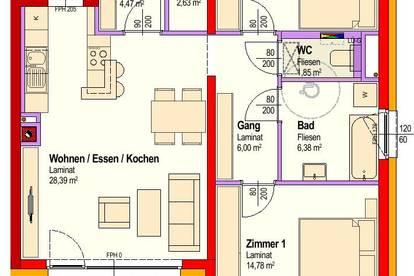 Michelhausen. Geförderte 3 Zimmer Wohnung | Balkon | Miete mit Kaufrecht.