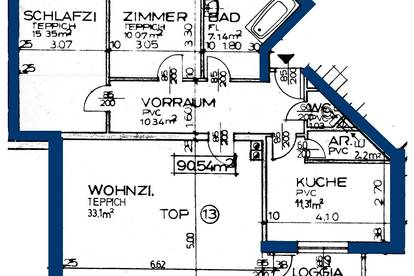 Neuhofen. 3 Zimmer Mietwohnung   Loggia.