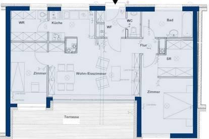 Etsdorf. Geförderte 3 Zimmer Dachterrassenwhg. | Miete mit Kaufrecht.