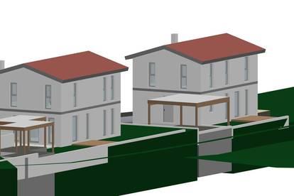 Grundstück mit Bebauungs-Studie in 2193 Wilfersdorf