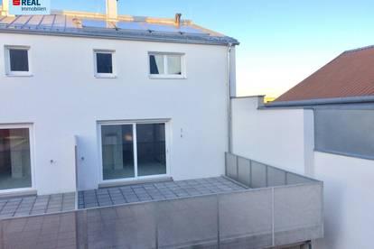Frühling auf der eigenen Terrasse - leistbares Eigentum an der Stadtgrenze Wiens!