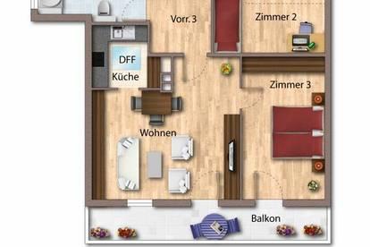 Ruhige 3-Zimmerwohnung mit unverbautem Hornblick und Freizeitwohnsitz-Widmung