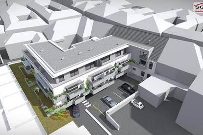 Provisionsfreier Erstbezug:Geförderte 2- Zimmer Dachgeschoss-Wohnung in der Innenstadt mit 1 Garagenstellplatz und mit Miete-Kaufoption