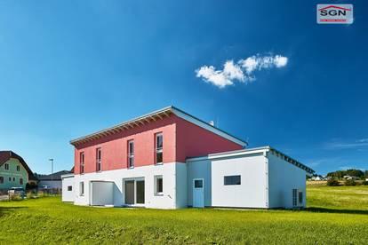Doppelhausanlage mit 4 Reihenhäuser