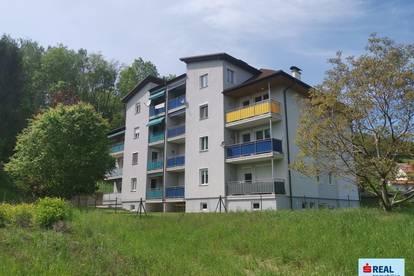 Tolle ca. 57 m² Mietwohnung mit Balkon in Wolfsberg - Stadtrand