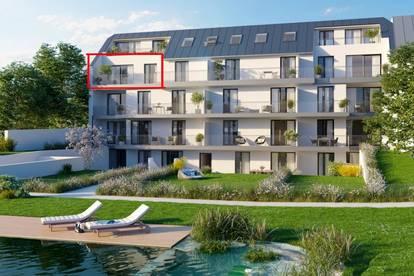 ERSTBEZUG ! traumhafte 2-Zimmer Wohnung im Luxus-Wohnbau mit eigenem Schwimmteich, Garten, Tiefgarage uvm.