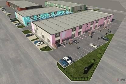 Neugeschaffenes Geschäftsviertel mit Verkaufs- und Produktionsflächen!