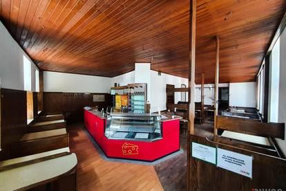 Sanierungsbedürftige Gastronomielokal in der Linzer Straße