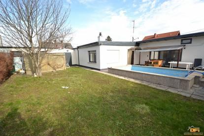 Sonniges 6-Zimmer Haus mit großem Garten samt Pool und Parkplatz in absoluter Ruhelage nahe Lobau