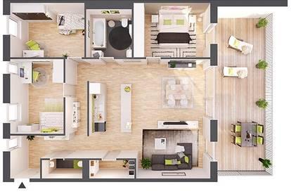 Provisionsfreie 4-Zimmer Neubau-Wohnung mit Terrasse (BW15)