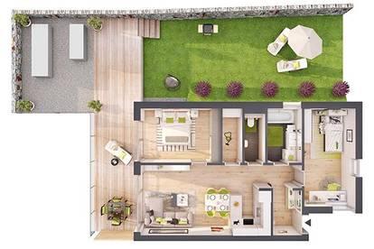 Provisionsfreie 3-Zimmer Neubau-Gartenwohnung (W07)