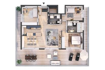 Provisionsfreie hochwertige 4-Zimmer Penthousewohnung mit Dachterrasse(DW09)