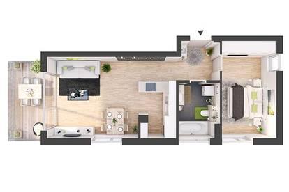 Provisionsfreie 2-Zimmer Neubau-Wohnung mit Balkon (DW05)
