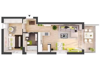 Provisionsfreie 2-Zimmer Neubau-Wohnung mit Balkon (BW06)