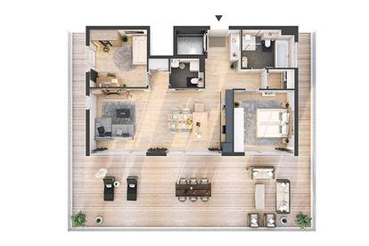 Provisionsfreie hochwertige 3-Zimmer Penthousewohnung mit Dachterrasse(AW07)