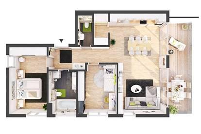 Provisionsfreie 3-Zimmer Neubau-Wohnung mit Balkon (AW06)