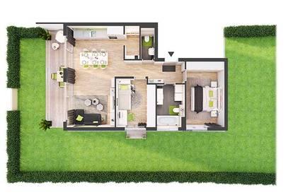 Provisionsfreie 3-Zimmer Neubau-Gartenwohnung (CW01)