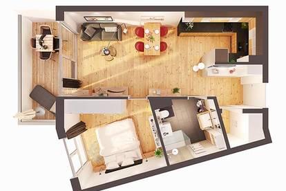 Provisionsfreie hochwertige 2-Zimmer Neubau-Wohnung mit Balkon (Top W11)