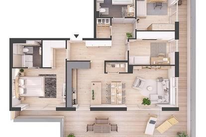 Provisionsfreie hochwertige 4-Zimmer Penthousewohnung mit Dachterrasse (82W7)