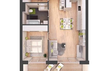 Provisionsfreie 2-Zimmer Neubau-Wohnung mit Balkon (W25)