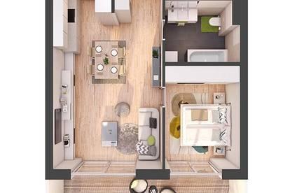 Provisionsfreie 2-Zimmer Neubau-Wohnung mit Balkon (W24)