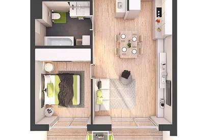 Provisionsfreie 2-Zimmer Neubau-Wohnung mit Balkon (W23)