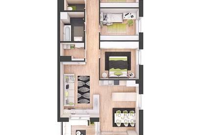 Provisionsfreie 4-Zimmer Neubau-Wohnung mit Balkon (W21)