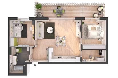 Provisionsfreie 3-Zimmer Neubau-Wohnung mit Balkon (W09)
