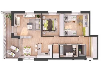 Provisionsfreie 3-Zimmer Neubau-Wohnung mit Balkon (W07)