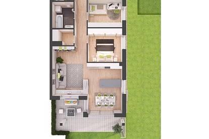 Provisionsfreie 4-Zimmer Neubau-Gartenwohnung (W01)