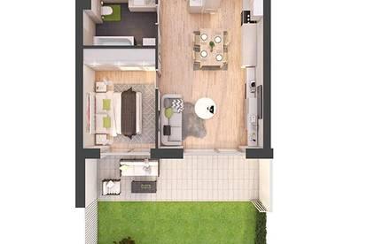 Provisionsfreie 2-Zimmer Neubau-Gartenwohnung (W05)