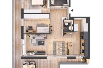 Provisionsfreie hochwertige 3-Zimmer Penthousewohnung mit Terrasse (81W6)
