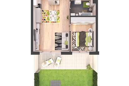 Provisionsfreie 2-Zimmer Neubau-Gartenwohnung (W04)