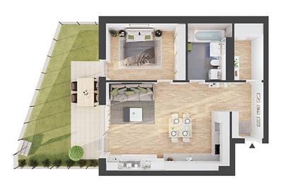Provisionsfreie 2-Zimmer Neubau-Gartenwohnung (AW03)