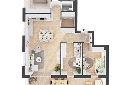 Provisionsfreie hochwertige 4-Zimmer Penthousewohnung (AW07)
