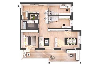 Provisionsfreie 4-Zimmer Neubau-Wohnung mit Balkon (W22)