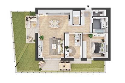 Provisionsfreie 3-Zimmer Neubau-Gartenwohnung (AW01)