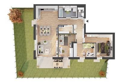 Provisionsfreie 4-Zimmer Neubau-Gartenwohnung (CW02)