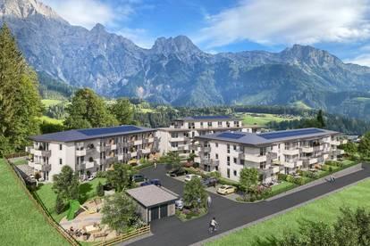 Schöne 3 Zimmer Neubauwohnung mit einem Ausblick auf die Bergkulisse der Leoganger Steinberge